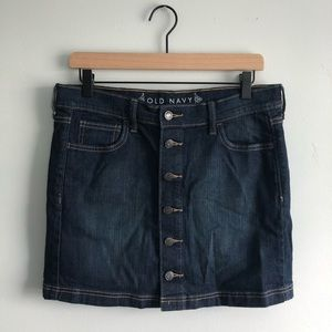 Old Navy Jean Button Up Skirt Blue